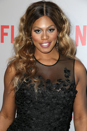 Laverne Cox attended the 'Orange is the New Black' Q&A wearing her hair in a tumble of curls.