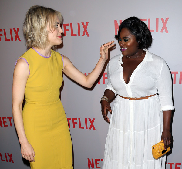 More Pics of Taylor Schilling Cocktail Dress (1 of 13) - Taylor Schilling Lookbook - StyleBistro [orange is the new black,clothing,dress,premiere,cocktail dress,yellow,event,carpet,flooring,red carpet,fashion design,actresses,danielle brooks,taylor schilling,screening,q a,for your consideration,for your consideration screening,netflix,l]