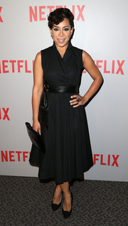 Selenis Leyva attended the 'Orange is the New Black' Q&A looking classic in a sleeveless LBD.