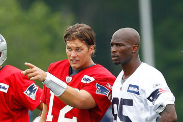 Tom Brady Chad Johnson New England Patriots Training Camp