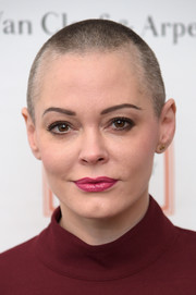 Rose McGowan looked tough at the Tribeca Ball wearing this buzzcut.