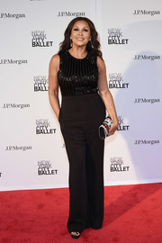 Vanessa Williams chose a sleeveless black jumpsuit with a beaded bodice for the New York City Ballet 2018 Spring Gala.