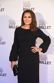Vanessa Williams paired a black satin envelope clutch with a simple gown for the New York City Ballet Spring Gala.