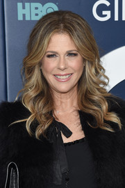 Rita Wilson looked glam with her teased, wavy hairstyle at the New York premiere of the final season of 'Girls.'