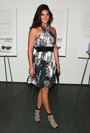 Model Hilary, who is one of the faces of Estee Lauder, wore a Rachel Roy Resort 2009 dress, paired with Manolo Blahhnik heels.
