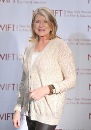 Martha Stewart kept her look subtly sparkly at the Annual Muse Awards in a cream beaded cardigan.