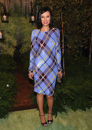 Wendi Deng rocked a tartan dress at the New Yorkers for Children Fall 2012 Gala.