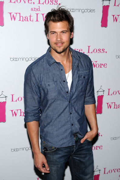 Nick Zano Messy Cut [love loss and what i wore,what i wore,denim,pink,facial hair,jeans,fashion design,cool,premiere,event,magenta,beard,nick zano,new york city,cast member celebration,cast member celebration]