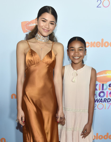 More Pics of Zendaya Coleman Over the Knee Boots (1 of 9) - Boots Lookbook - StyleBistro [red carpet,clothing,dress,skin,fashion,beauty,hairstyle,fashion model,red carpet,fashion design,carpet,zendaya,guest,kids choice awards,california,los angeles,usc galen center,nickelodeon,l]