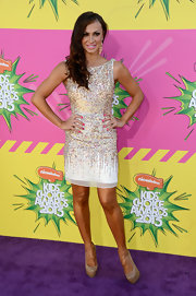 Karina Smirnoff chose a beaded frock very reminiscent of her 'Dancing With the Stars' attire.