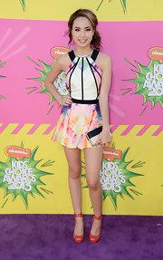 Savannah Jayde chose this pastel, watercolor-print dress for her soft and feminine look at the KCAs.