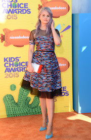 Debby Ryan looked absolutely darling in a sheer-panel print dress by Sachin & Babi Noir at the Kids' Choice Awards.