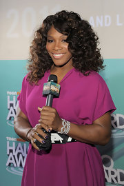 Serena Williams wore a pretty purple shade of nail polish with a few crystal accents at the 2011 Nickelodeon TeenNick HALO Awards.