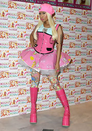 Nicki Minaj sure knows how to make a fashion statement with looks like this Barbie ensemble.