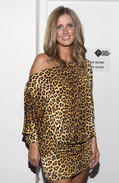 Nicky Hilton Off-the-Shoulder Dress