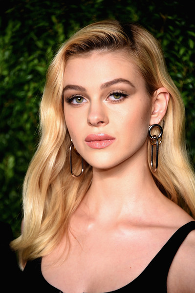 Nicola Peltz Dangling Chain Earrings
