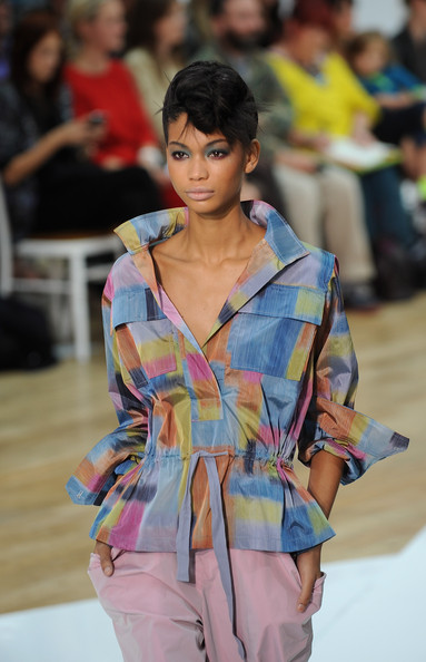More Pics of Chanel Iman Pompadour (1 of 1) - Chanel Iman Lookbook - StyleBistro