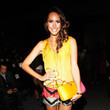 Louise Roe front row at the fall 2012 Nicole Miller show