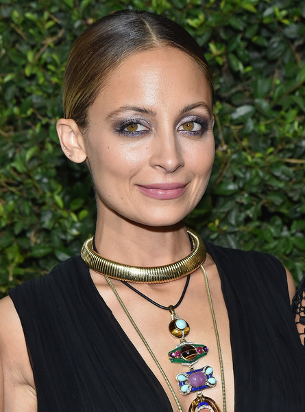 Nicole Richie Gold Choker Necklace [hair,hairstyle,eyebrow,beauty,lip,jewellery,fashion accessory,black hair,necklace,smile,arrivals,nicole richie,experience,what wear 10th anniversary www10,who what wear 10th anniversary www10 experience,fashion,beauty,celebrity,hair,hairstyle,nicole richie,celebrity,fashion,fashion designer,socialite,beauty,fashion design,glamour,actor,good charlotte]