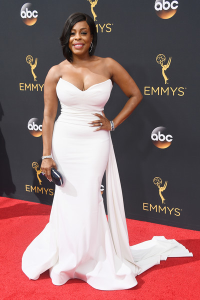 Niecy Nash Strapless Dress
