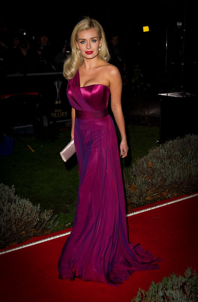 More Pics of Katherine Jenkins Evening Dress (3 of 3) - Dresses & Skirts Lookbook - StyleBistro [dress,gown,clothing,hair,carpet,red carpet,blond,shoulder,strapless dress,flooring,a night of heroes: the sun military awards,england,london,imperial war museum,katherine jenkins]