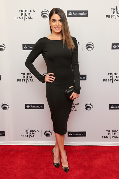 Nikki Reed Pumps [in your eyes,clothing,dress,little black dress,cocktail dress,shoulder,red carpet,carpet,fashion model,fashion,premiere,nikki reed,new york city,sva theater,tribeca film festival,premiere]
