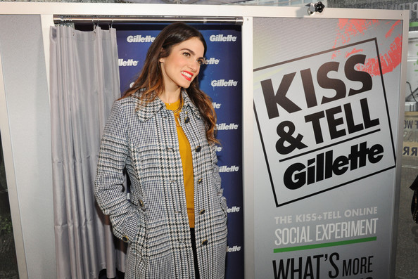 "Nikki Reed And Gillette Ask New York Couples To ""Kiss & Tell"" If They Prefer Stubble Or Smooth Shaven"