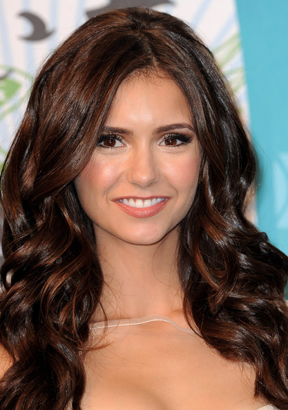Actress Nina Dobrev poses in the press room at the 2010 Teen Choice Awards