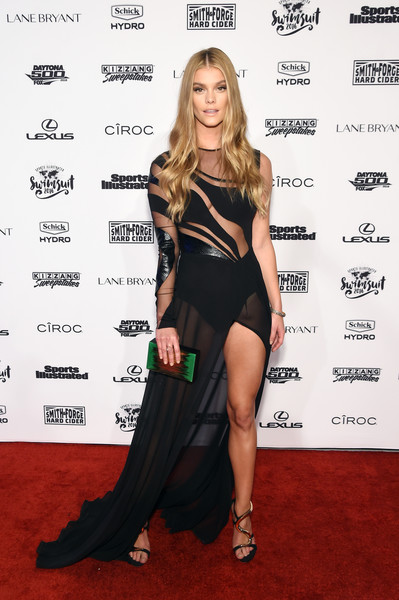 Nina Agdal Sheer Dress