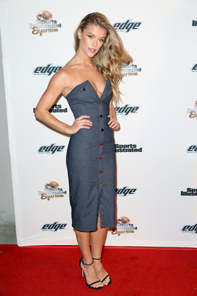 Nina Agdal Strapless Dress