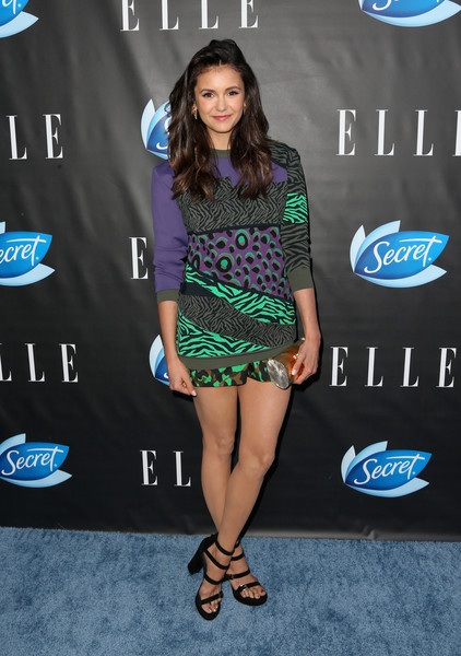 Nina Dobrev Tube Clutch