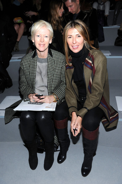 Nina Garcia Knee High Boots [fashion,tights,fashion show,fashion design,event,leggings,outerwear,joint,leg,haute couture,joanna coles,marie claire,nina garcia,front row,front row,new york city,n.y.,state armory,marc jacobs collection]