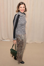 Margherita Missoni attended the CFDA/Vogue Fashion Fund Awards carrying a stylish teal crocodile tote.