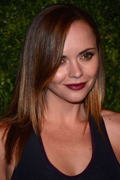 More Pics of Christina Ricci Dark Lipstick (1 of 8) - Dark Lipstick Lookbook - StyleBistro