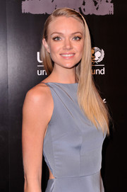Lindsay Ellingson attended the UNICEF Snowflake Ball wearing a sleek straight 'do.