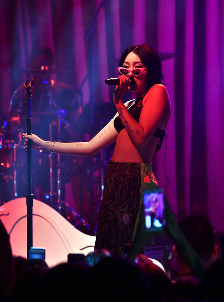 More Pics of Noah Cyrus Bra (1 of 17) - Pajamas & Intimates Lookbook - StyleBistro [performance,entertainment,music,performing arts,music artist,singing,song,concert,event,performance art,new york,irving plaza,new york city,noah cyrus in concert,noah cyrus]