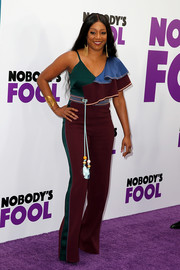 Tiffany Haddish was bold and modern in a color-block jumpsuit by Peter Pilotto at the New York premiere of 'Nobody's Fool.'