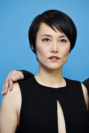 Rinko Kikuchi attended the Berlinale photocall for 'Nobody Wants the Night' wearing a short side-parted hairstyle.