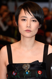Rinko Kikuchi opted for a casual short hairstyle when she attended the Berlin premiere of 'Nobody Wants the Night.'