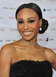 Cynthia Bailey attended the Not Alone Foundation Diamond Awards wearing her hair in a sleek braided bun.