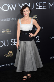 Karina Smirnoff donned a tricolor fit-and-flare dress for the 'Now You See Me 2' world premiere.
