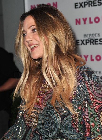 More Pics of Drew Barrymore Long Straight Cut (1 of 26) - Drew Barrymore Lookbook - StyleBistro