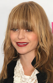 Tayrn Manning added a darling touch to her look with deep red lipstick for the 'Nylon' Magazine party.