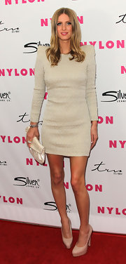 Nicky Hilton arrived at 'NYLON' Magazine's 12th Anniversary Issue Party wearing two stacked sterling silver pave rings in 18-karat gold wash with cubic zirconia.