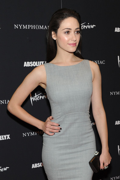 More Pics of Emmy Rossum Leather Clutch (1 of 4) - Leather Clutch Lookbook - StyleBistro