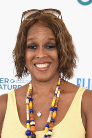 Gayle King wore her hair in short, tight waves at the 2015 Super Saturday NY event.