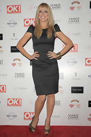 Liz Mcclarnon's LBD at the OK! Magazine Christmas party had a futuristic feel thanks to its pointy sleeves.