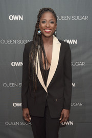 Rutina Wesley attended the private screening of 'Queen Sugar' rocking ultra-long dreadlocks.