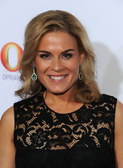 Cat Cora stepped out onto the red carpet of the TCA Winter Press Tour Cocktail Party in a pair of dazzling diamond and emerald dangling earrings.