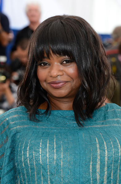 Octavia Spencer Medium Wavy Cut with Bangs